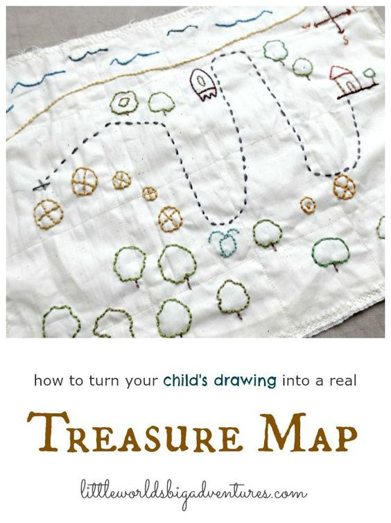 making your own embroidered treasure map embroidery other needle