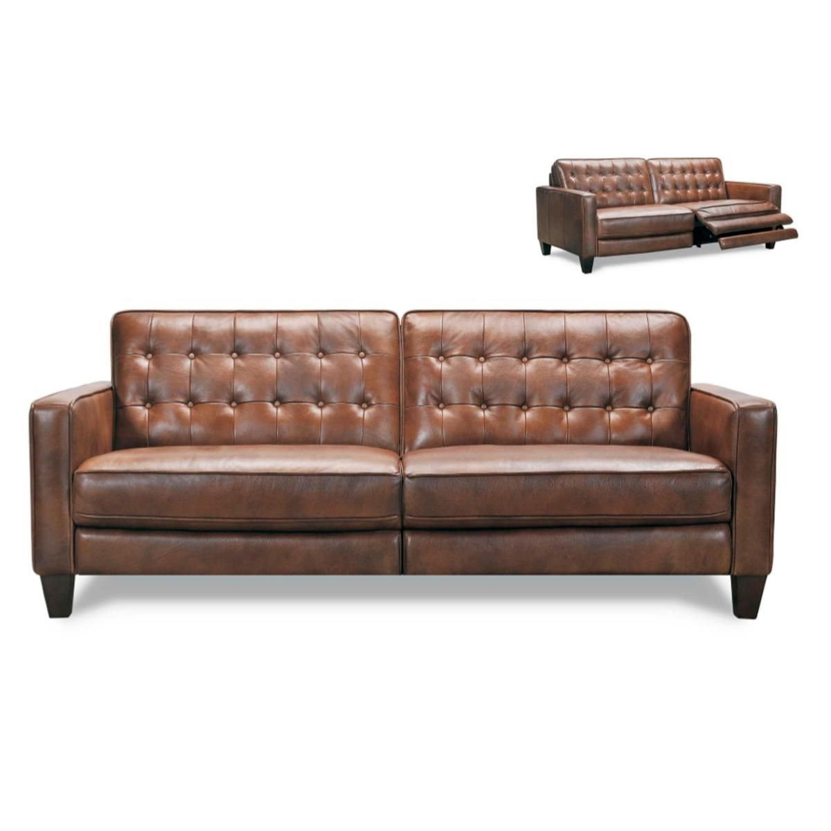 Violino Leather Sofa With Power Footrest In Classico Chestnut Nebraska Furniture Mart In 2020 Leather Sofa Furniture Sofa