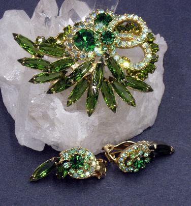 Brooch /& Earrings Juliana Jewelry Set