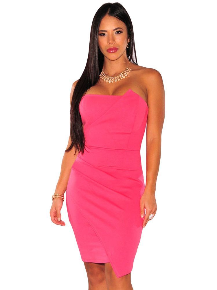 Robe bustier corail pas cher