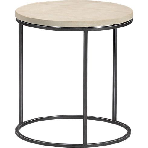 grind sandstone side table in accent tables | CB2