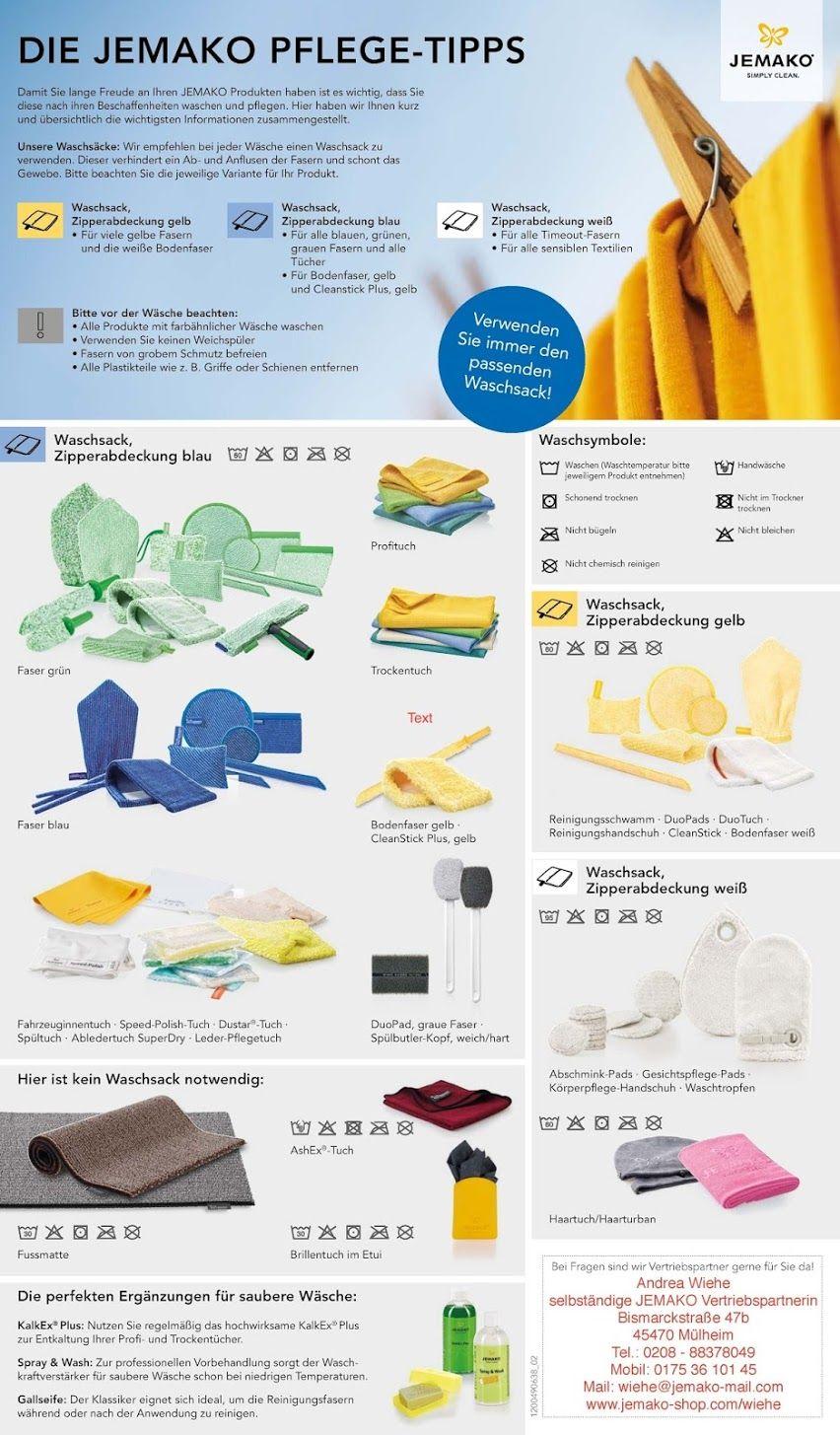 Damit Sie Lange Freude An Ihren Jemako Produkten Haben Ist Es Wichtig Dass Sie Diese Nach Ihren Beschaffenheit Waschen Und Pfl Mit Bildern Jemako Haushalts Tipps Haushalt