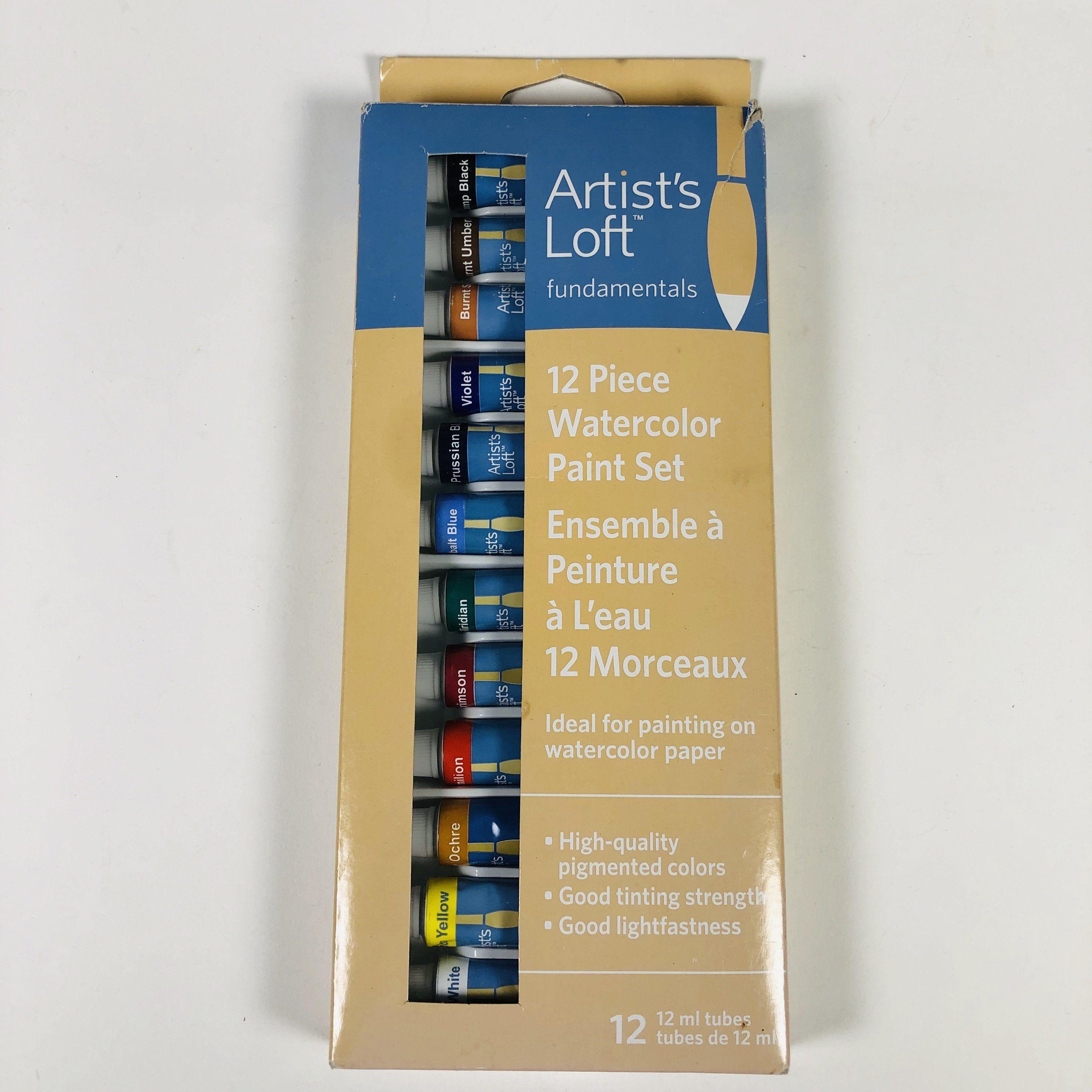 Artists loft 12 piece watercolor paint set tubes