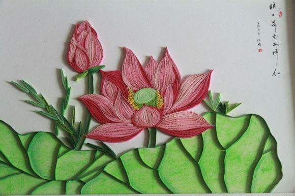 Chinese Quilling On Facebook Quilled Lotus Flower Quilling