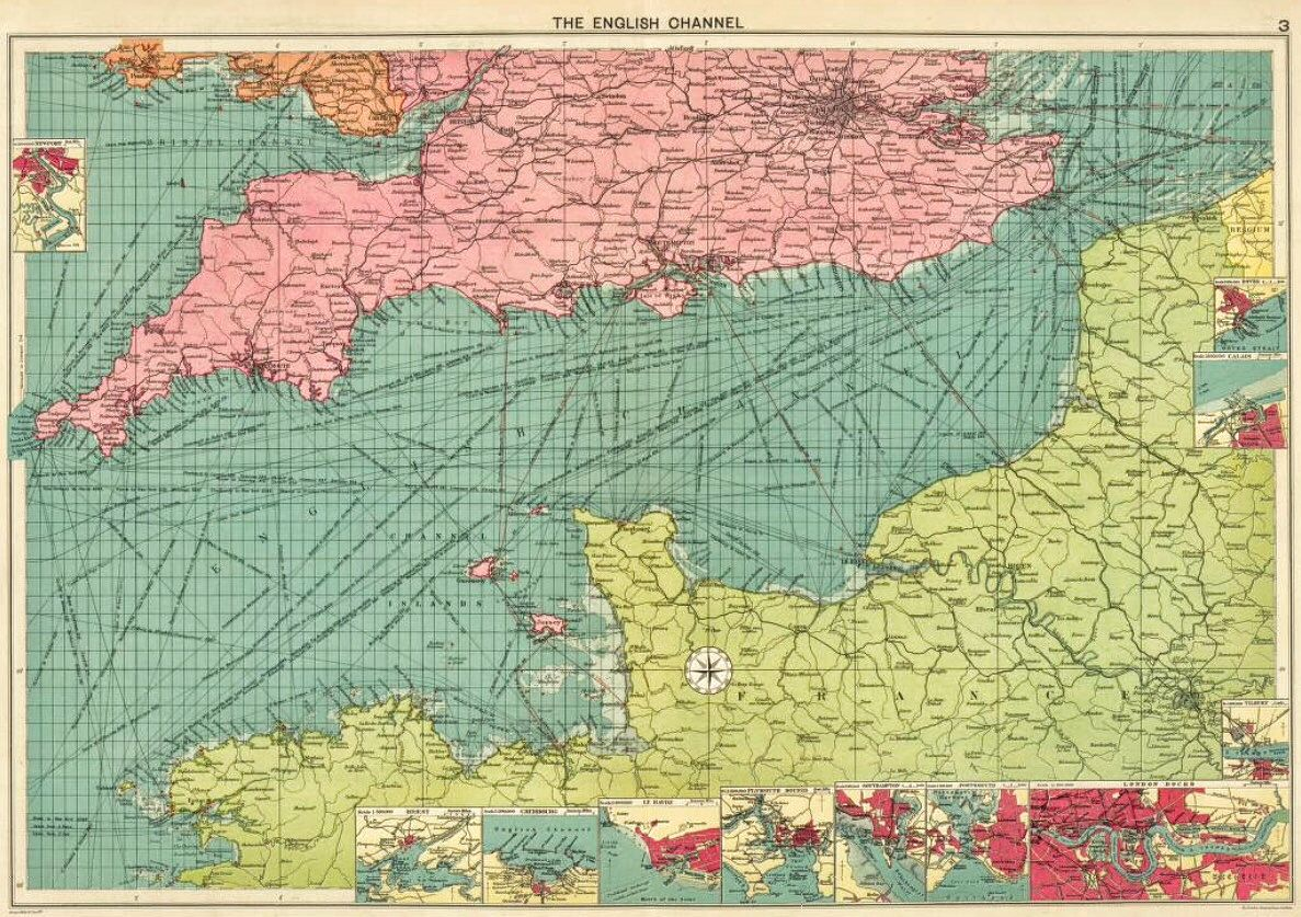 English Channel. 1922 | map | Map, Vintage world maps, Diagram on map of europe, map of normandy, map of caspian sea, map of strait of hormuz, map of gulf of bothnia, map of arctic ocean, map of england, map of celtic sea, map of wales, map of river thames, map of baltic sea, map of black sea, map of germany, map of moscow, map of rome, map of north sea, map of ural mountains, map of adriatic sea, map of bay of biscay, map of danube river,