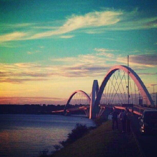 Ponte JK em Brasília. Photo from the Instacanvas gallery for clintonxx.