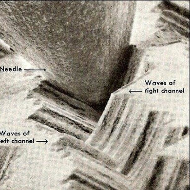 Magnification of a needle in a record groove  | Music Related