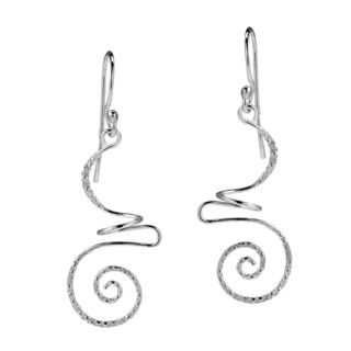 Intricate Abstract Swirls Sterling Silver Dangle Earrings (Thailand)