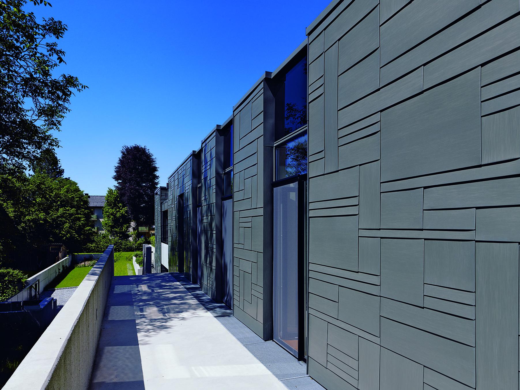 Fassade Mit Rheinzink Rauten Fassade Fassadenplatten