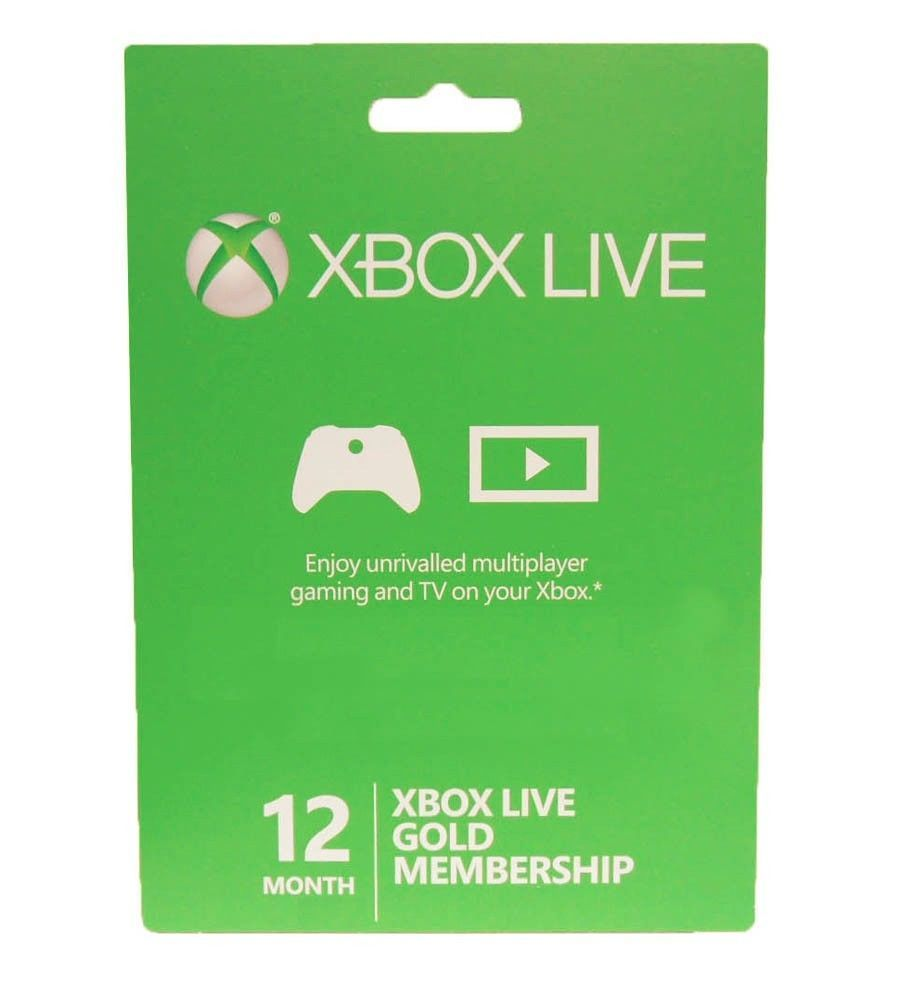 Xbox360 Xbox One Live 12 Month Gold Membership Card Subscription