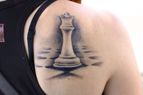 King And Queen Chess Piece Tattoo Queen chess tattoo- because