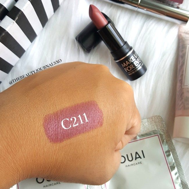 Make Up For Ever Artist Rouge Lipstick in C211 Swatches ...