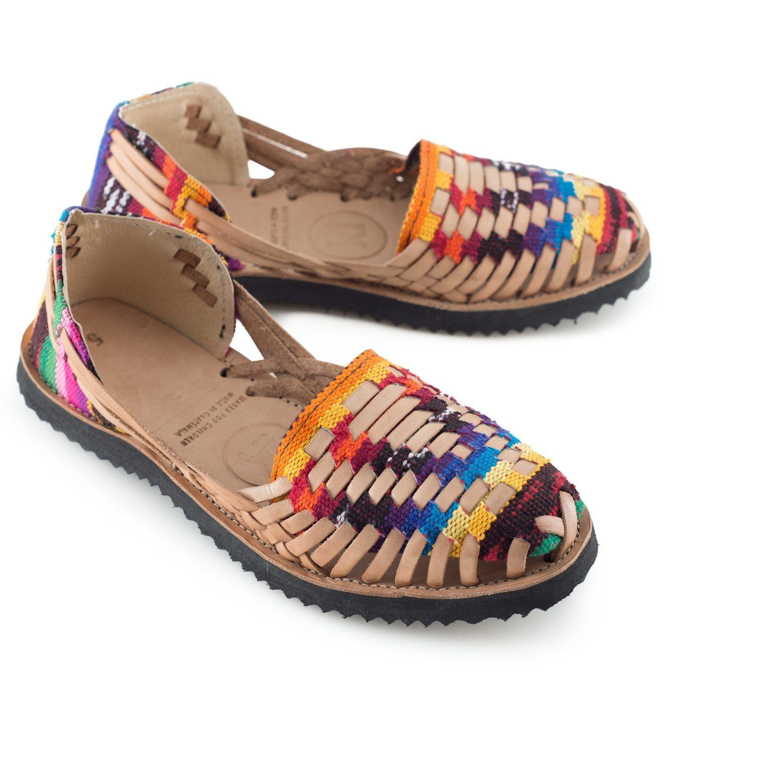 66c33367220c Women s Traditional Mayan Woven Leather Huarache Sandals - Ix Style - Water  For Children