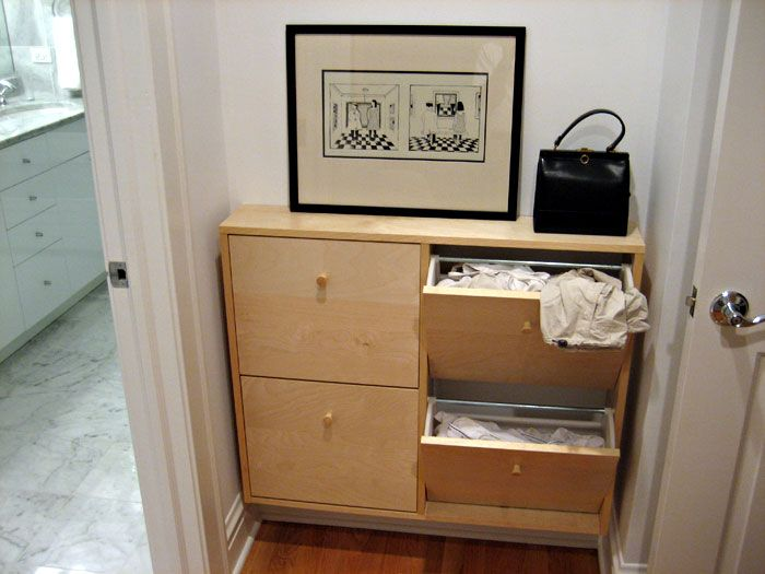 Slim Laundry Hamper Made To Fit Small Laundry Area Ikea Hackers Laundry Hamper Ikea Storage Ikea Shoe Cabinet