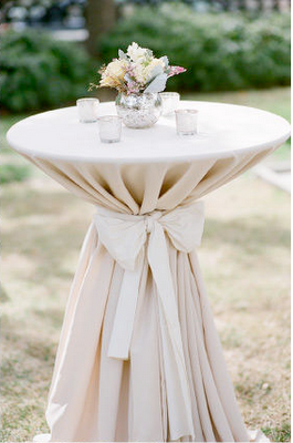 Cocktail Hour High Top Tables Love Bow Taupe Linen