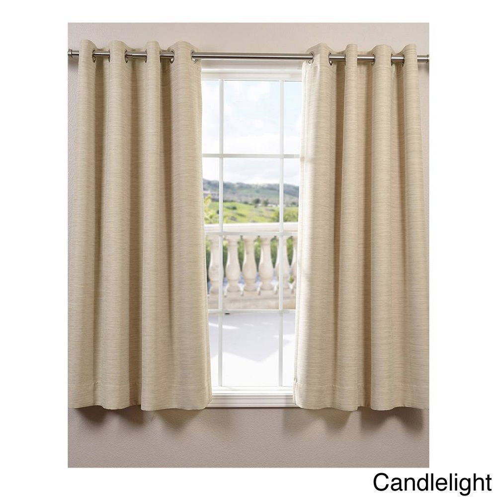 Exclusive Fabrics Bellino Grommet Top 63 Inch Blackout Curtain