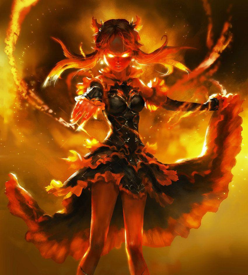 Burn Out By Mad Jojo On Deviantart Fire Demon Fantasy Demon Anime Warrior
