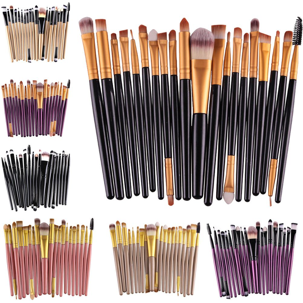 Hot Sale Professional 20pcs Makeup Brushes Set Powder Foundation