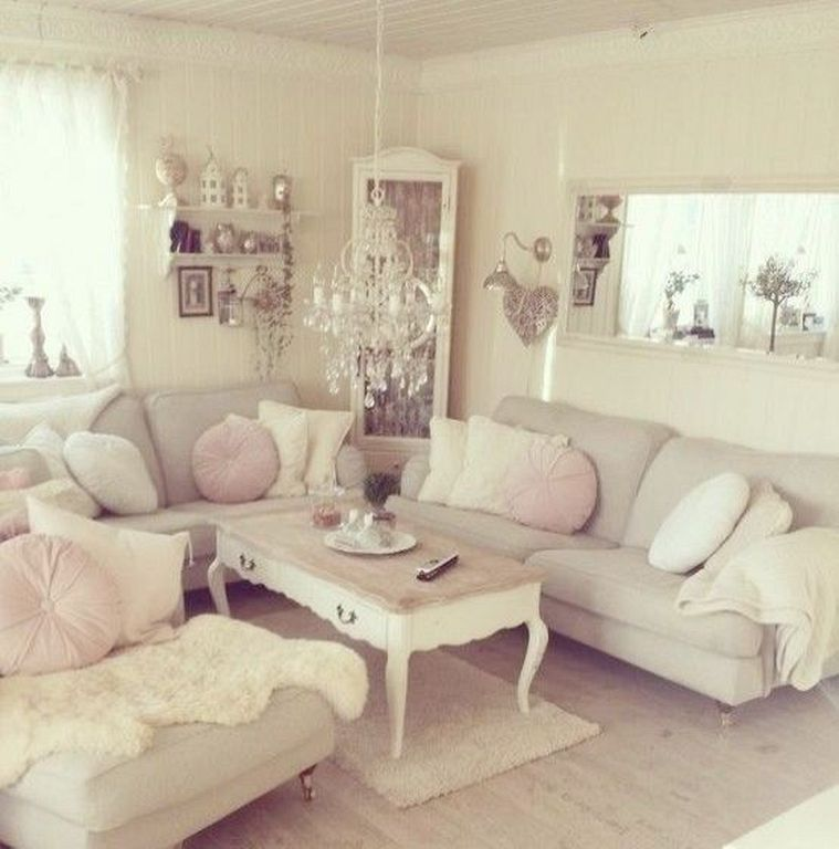 20+ Shabby Chic Living Room Ideas With French Cottage Style