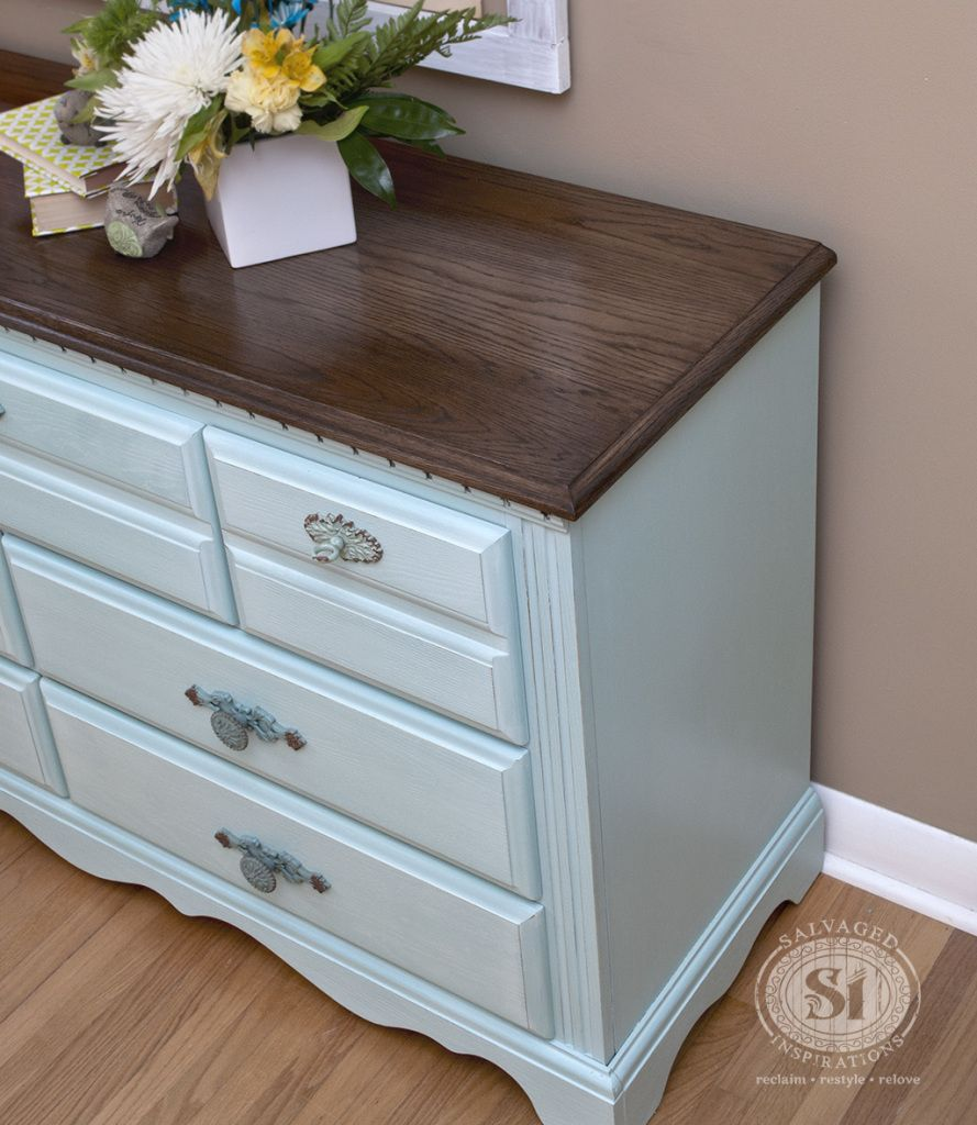 Lovely Milk Paint Furniture  Eulalies Sky. I Like The Wood Top With Painted  Everything Else