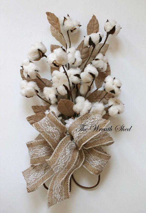 Cotton Anniversary Bouquet, 2nd Anniversary Gift, Natural Cotton Bolls,  Cotton Arrangement, Bridal
