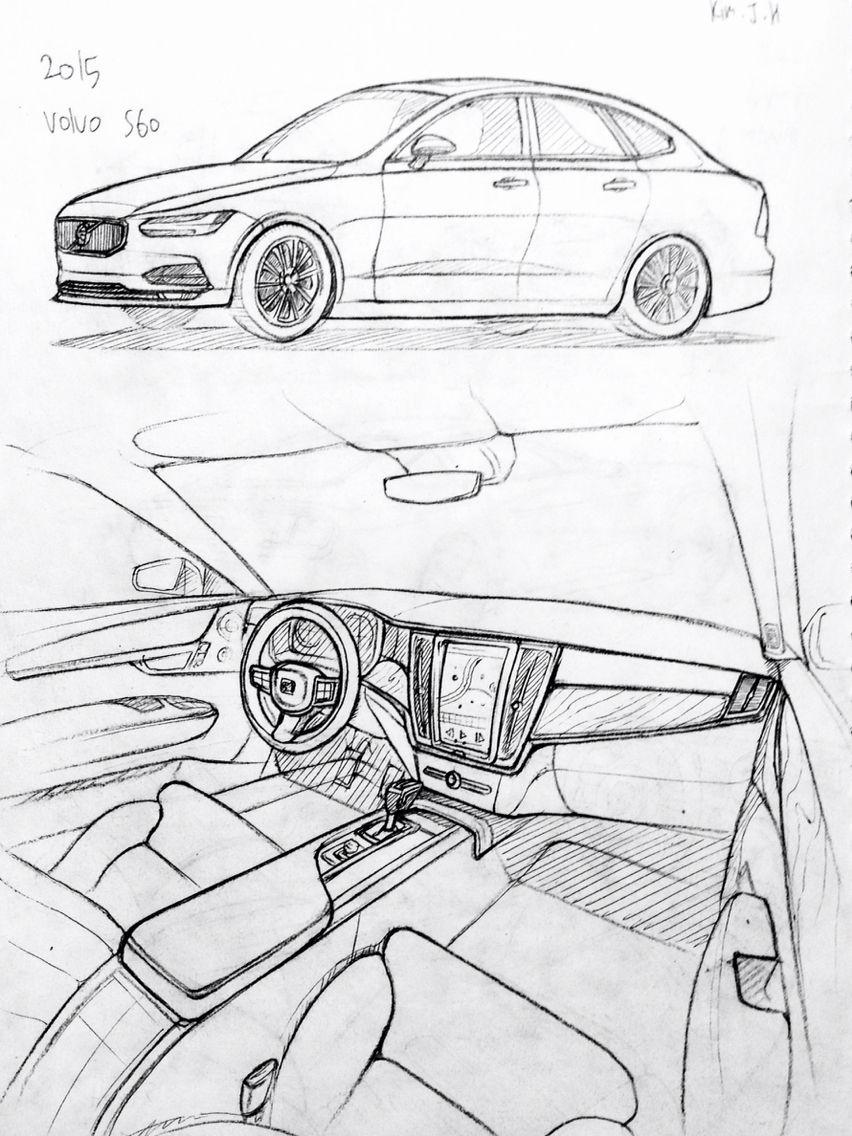 Car drawing 151206 2015 Volvo S60 Prisma on paper. Kim.J.H   cars ...