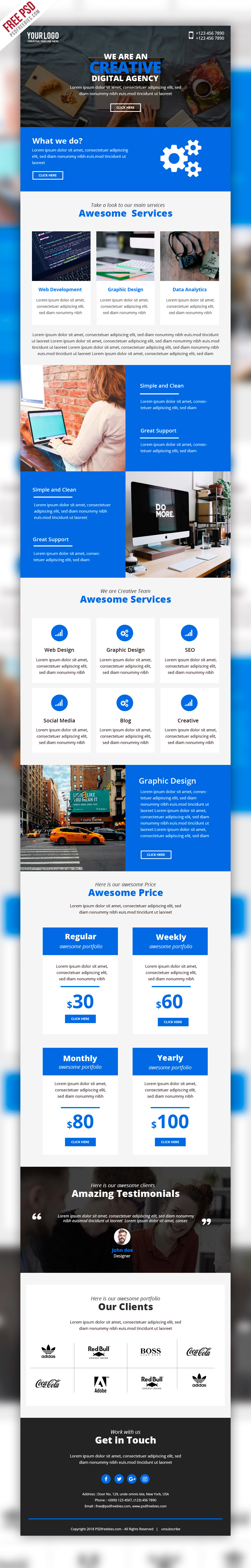 business marketing emailer template psd free emailer newsletter