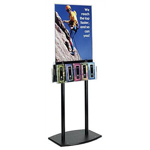 Acrylic Sign Holder Stand W Brochure Holder Sign Holder