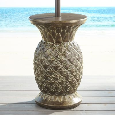 Stone Pineapple Umbrella Table Pier 1 Imports Patio Umbrellas Pool Umbrellas Patio Umbrella Bases