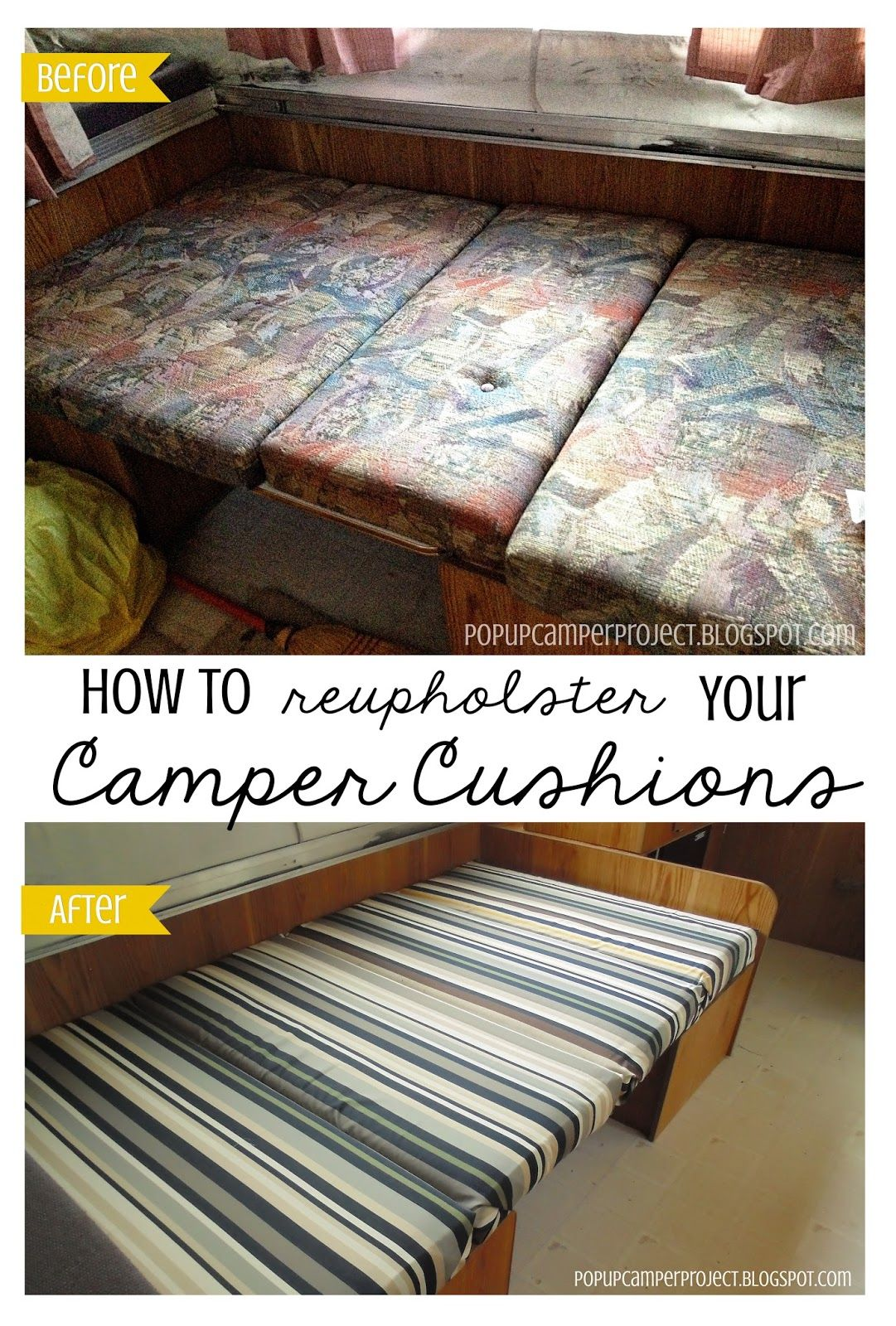 How To Reupholster Your Camper Cushions Camper Cushions