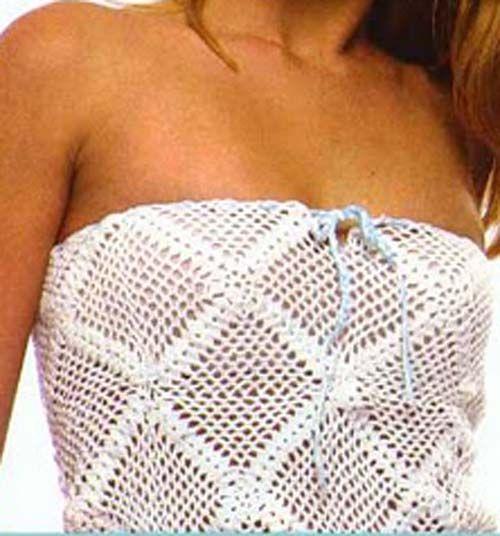 Patron Crochet Top sin Tirantes | labores | Pinterest | Tirantes ...