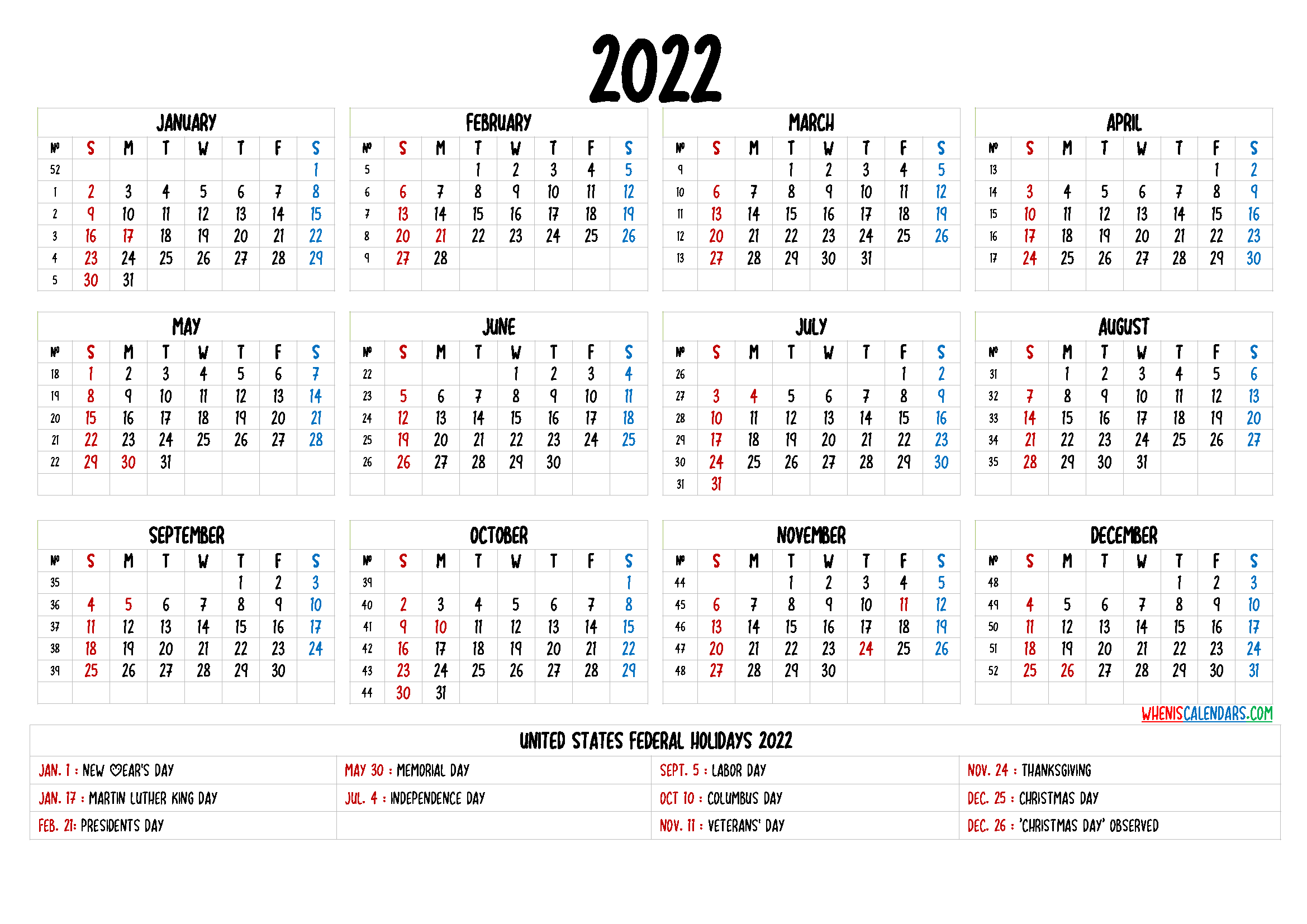20+ 2022 Calendar - Free Download Printable Calendar ...