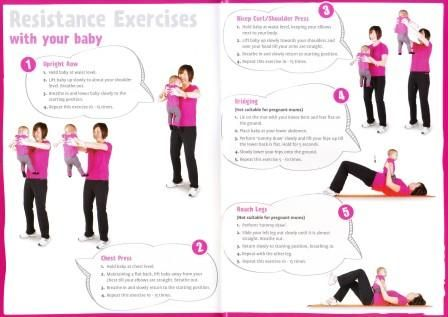 resistance exercise with baby have fun while losing weight