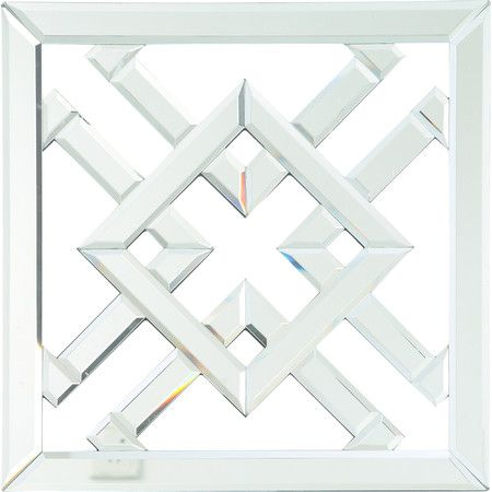 Geometric Mirrored Wall Decor Modern Mirror Wall Mirror Wall Mirror Wall Art