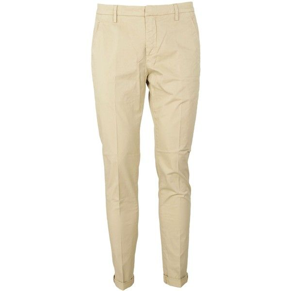 Dondup Chino Trousers ($170) ❤ liked on Polyvore featuring pants, brown trousers, chinos pants, dondup, brown pants and brown chino pants