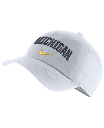 new style cde81 4c681 Nike Michigan Wolverines H86 Wordmark Swoosh Cap - White Adjustable