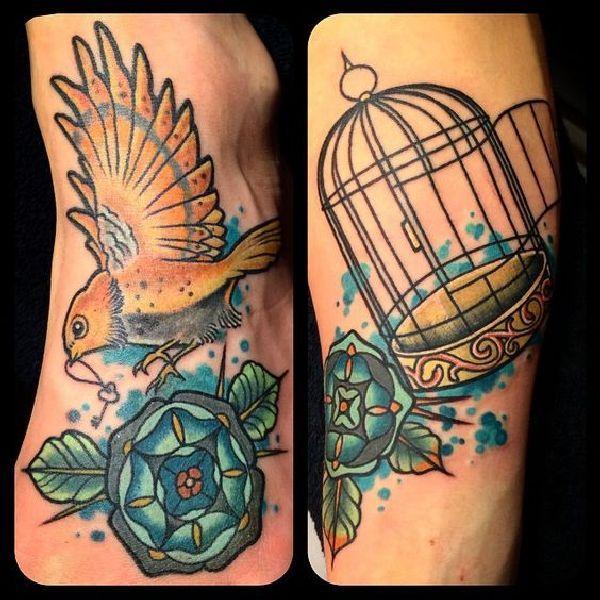 tattoodesignideabirdcage28 tattoo tätowierung kunst