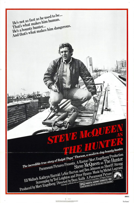 """The Hunter"" movie poster, 1980. Steve McQueen's final ..."