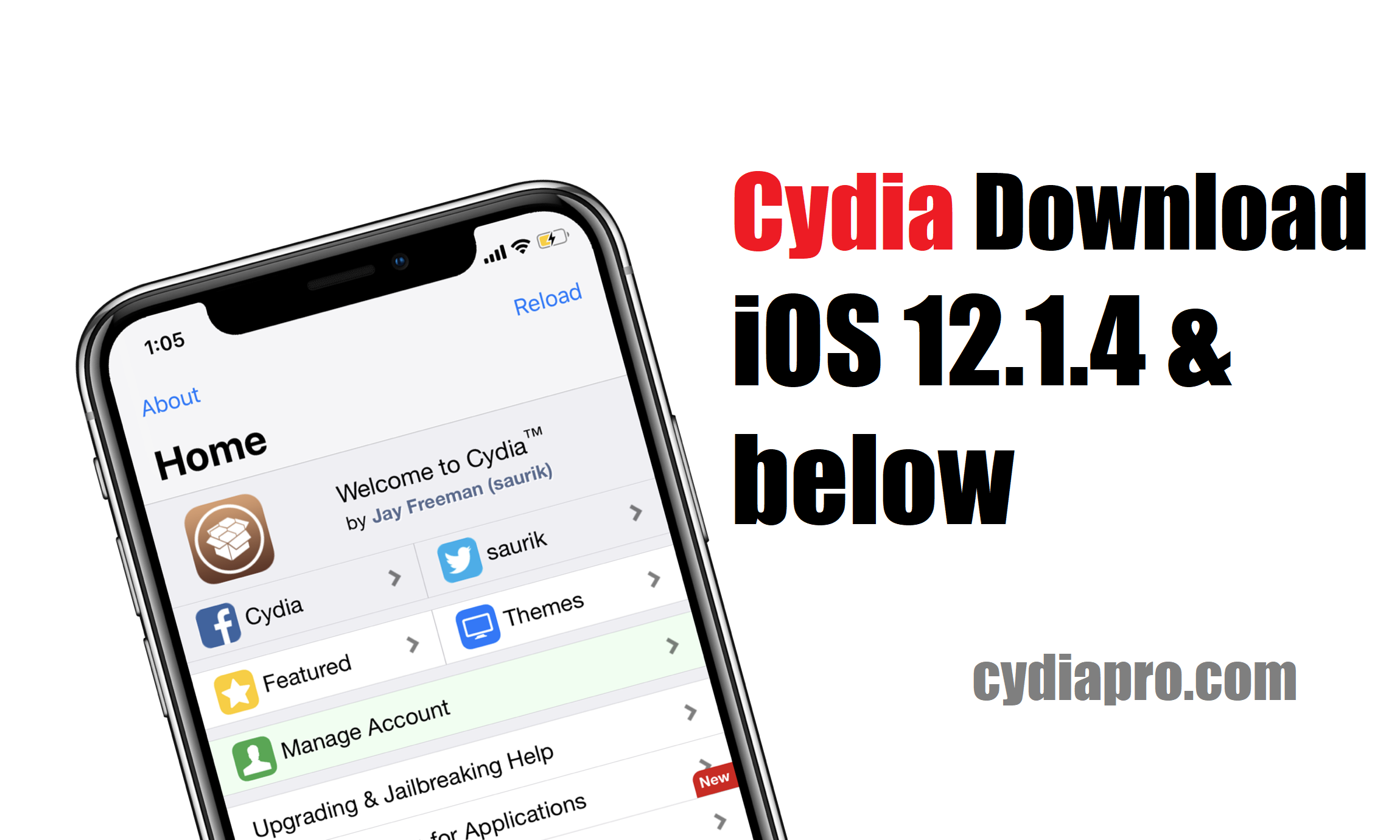 Download Cydia iOS 12.1.4 using iOS 12 semi jailbreak tool