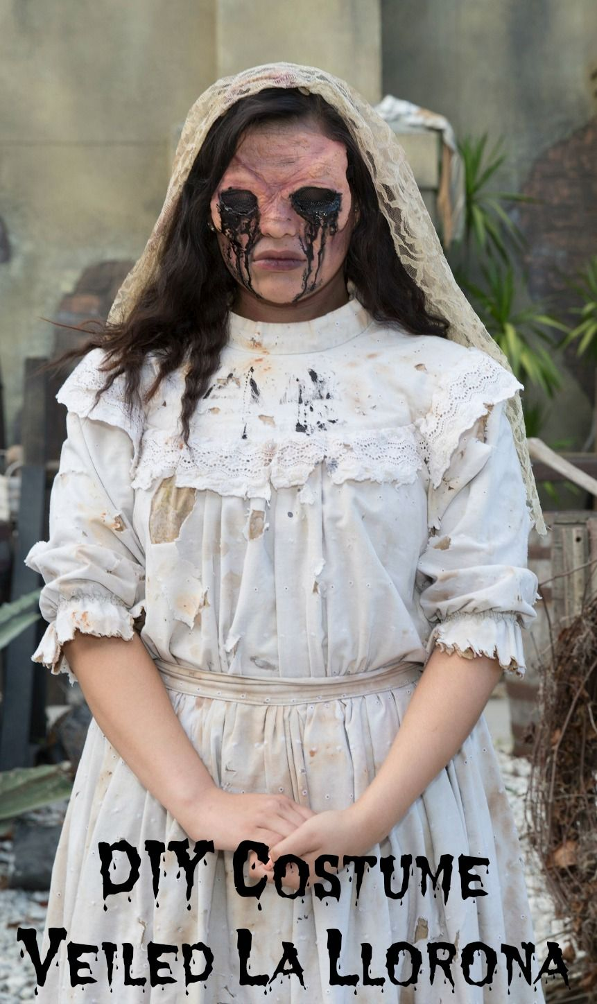 Last Minute Costume Idea Be La Llorona the weeping woman | Easy diy ...