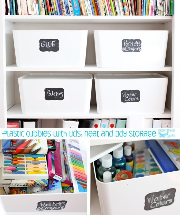 Art Supply Storage For Kids Bins Organizing Supplies