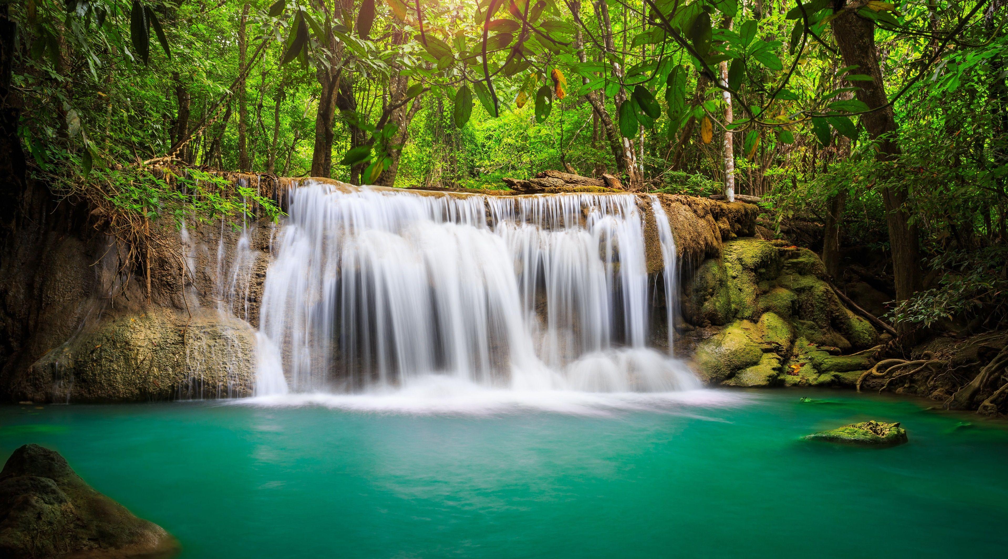Amazing Hd Rainforest Waterfall Wallpaper Waterfall Wallpaper