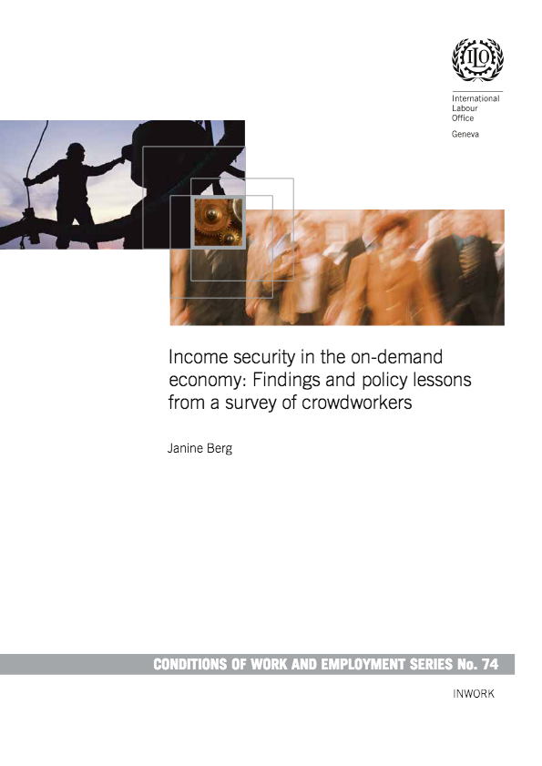 Vignette document Income security in the on-demand economy. Findings and policy lessons from a survey of crowdworkers