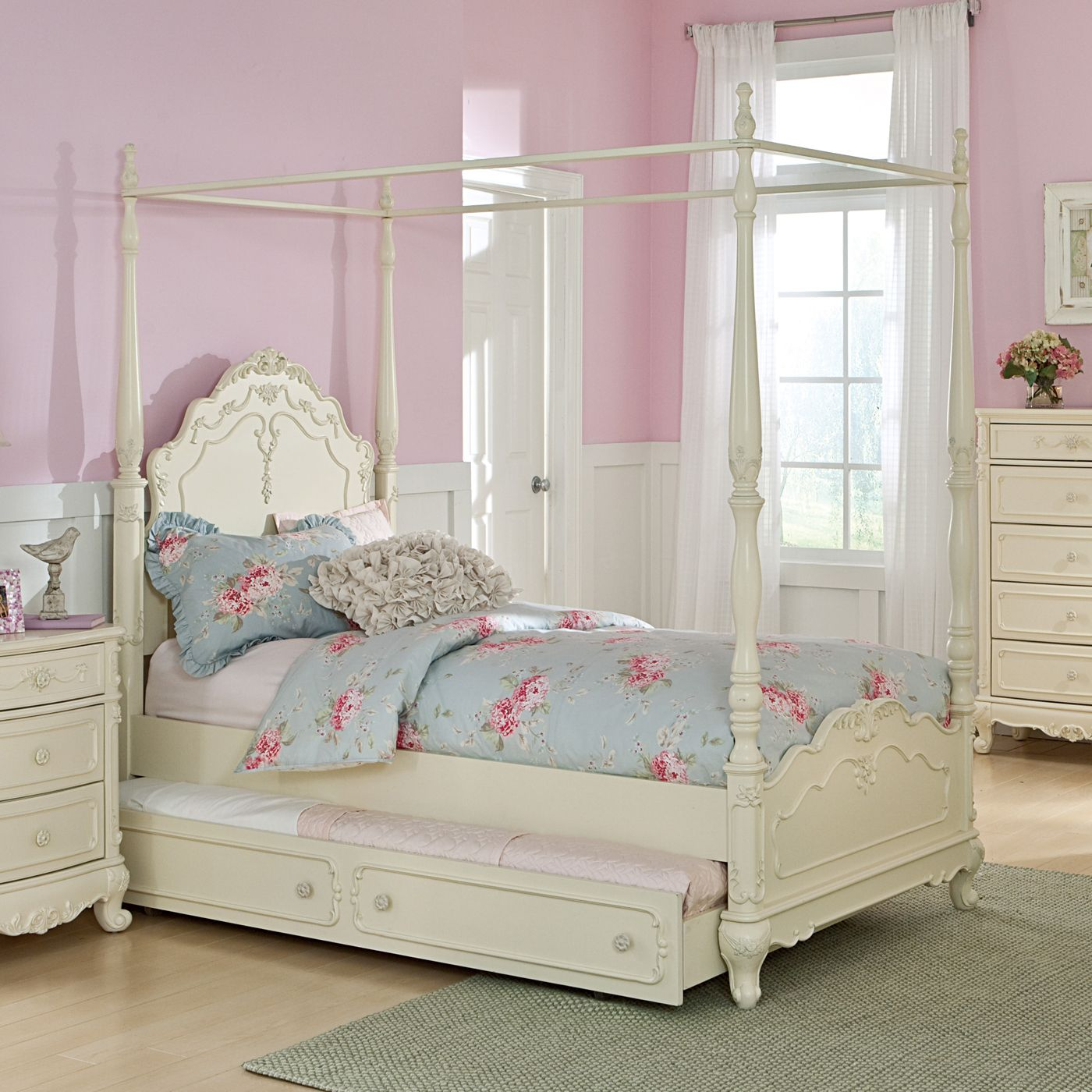 Homelegance 1386fpp 1 Cinderella Canopy Poster Bed Lowe S Canada