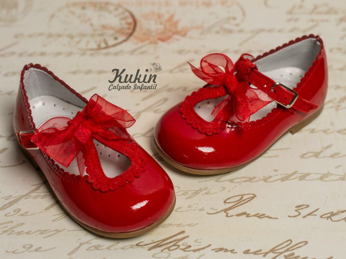 Zapatos rojos para bebé l122pVk