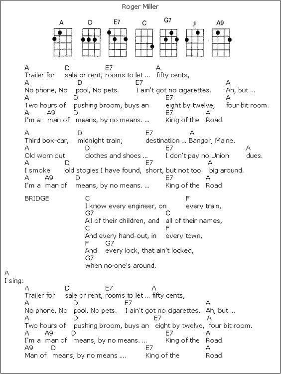 King Of The Road | Guitar songs | Pinterest | Guitars, Songs and ...