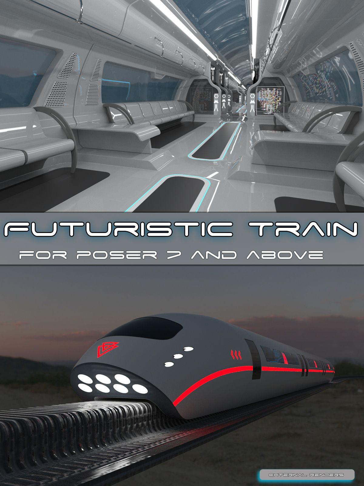 AJ Futuristic Train Futuristic, Futuristic city