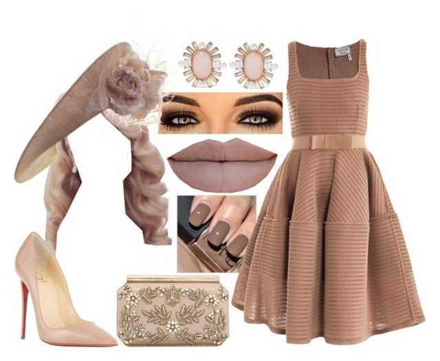 """Royal Ascot Day 1"" by nicole-briffa ❤ liked on Polyvore featuring Lanvin, Philip Treacy, Christian Louboutin, Oscar de la Renta and Jeffree Star"