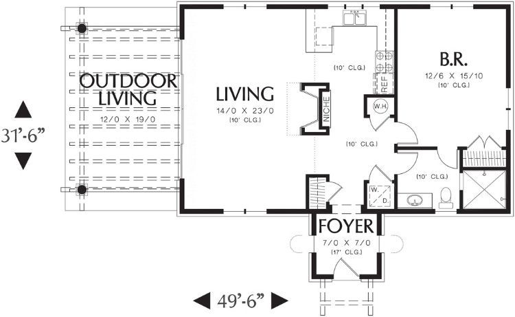 6 small home floor plans with basement foundations