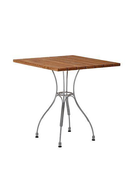 ein kleiner bistro tisch f r drinnen und draussen das untergestell hat kleine f e die sich je. Black Bedroom Furniture Sets. Home Design Ideas